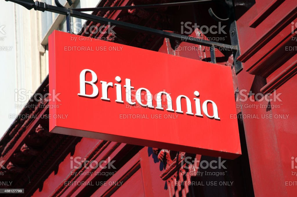Britannia Building Society Sign royalty-free stock photo