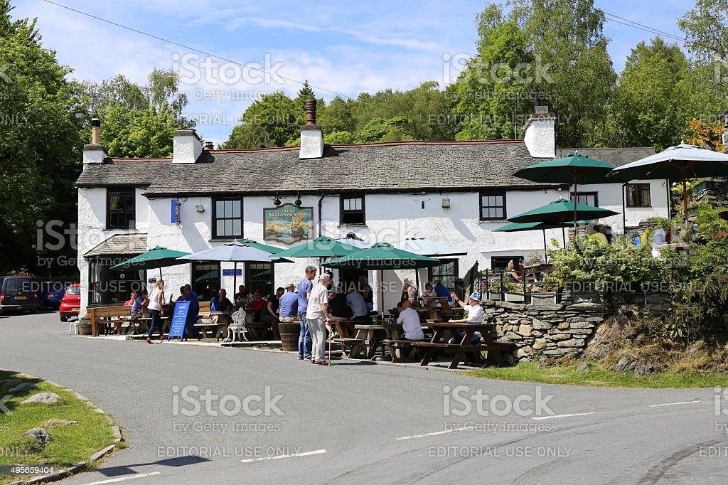 Britannia Inn, Elterwater. stock photo