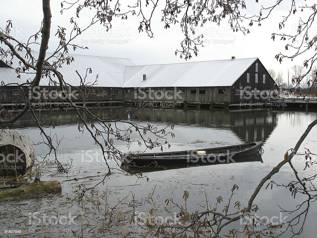 Britannia Shipyard, Steveston royalty-free stock photo