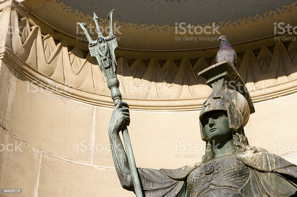 Britannia with Pigeon royalty-free stock photo