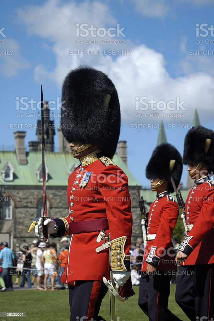 Brithish Honor Guards stock photo
