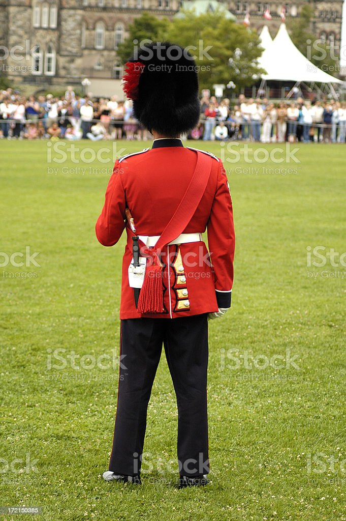 Britiis Army officer royalty-free stock photo