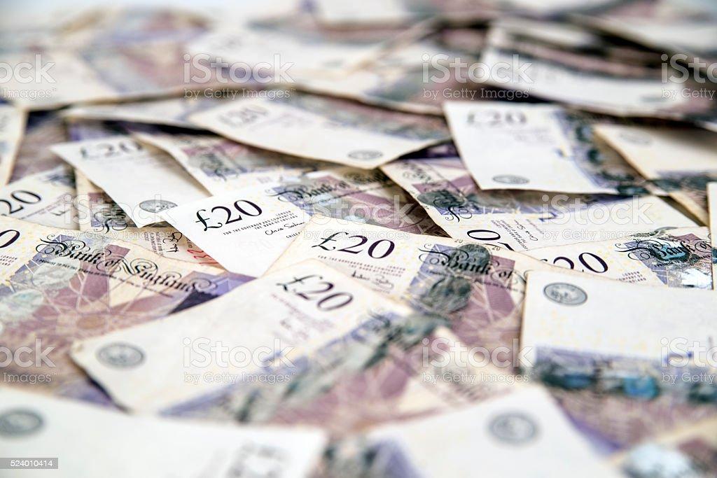 British 20 pounds, Twenty Pound Note stock photo