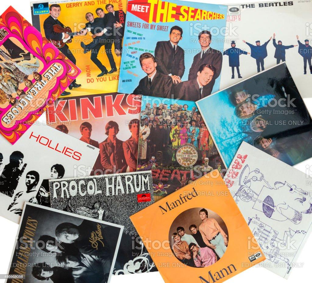 British 60 pop stock photo