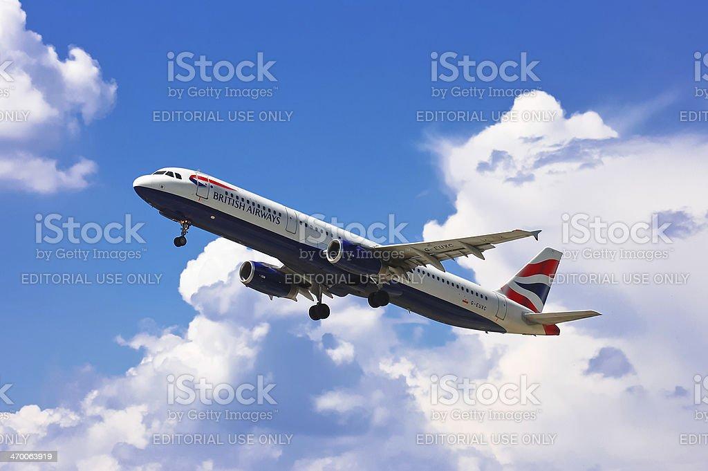 British Airways Airbus A321-231 stock photo