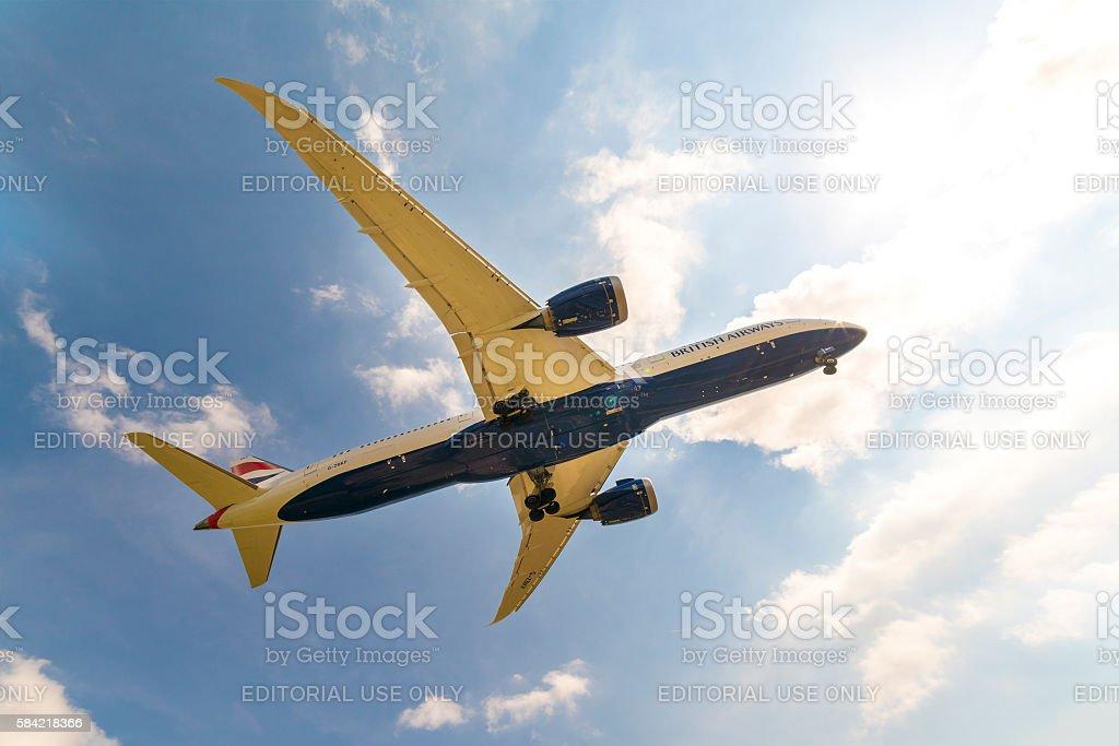 British Airways Airbus stock photo