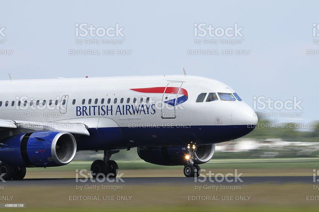 British Airways airlines plane taking off stock photo