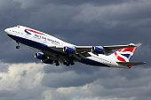 British Airways airplane Boeing 747-400 London Heathrow airport