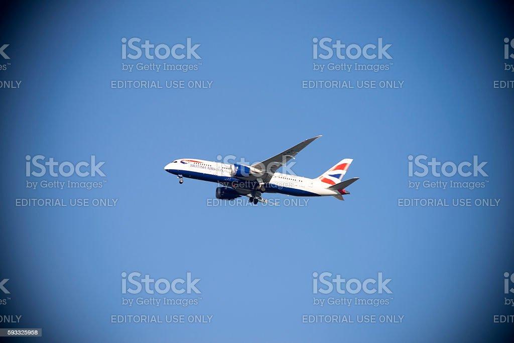 British Airways Airplane stock photo