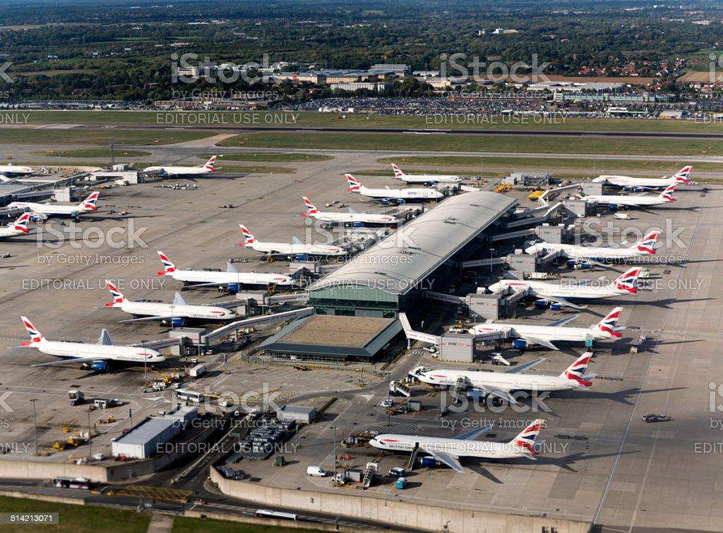 British Airways Airplanes stock photo