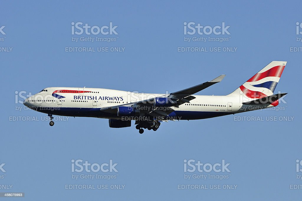 British Airways Boeing 747 stock photo