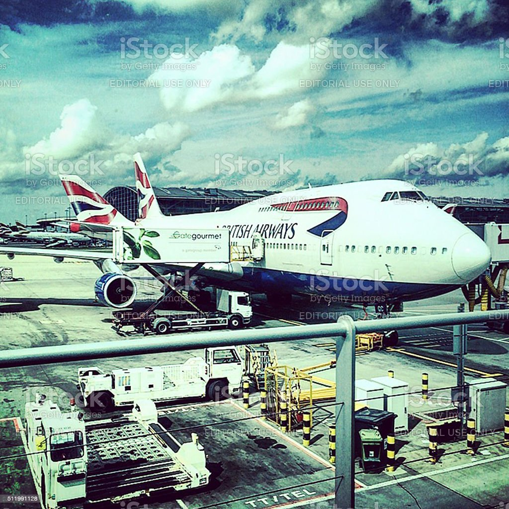British Airways Boeing 747 stock photo