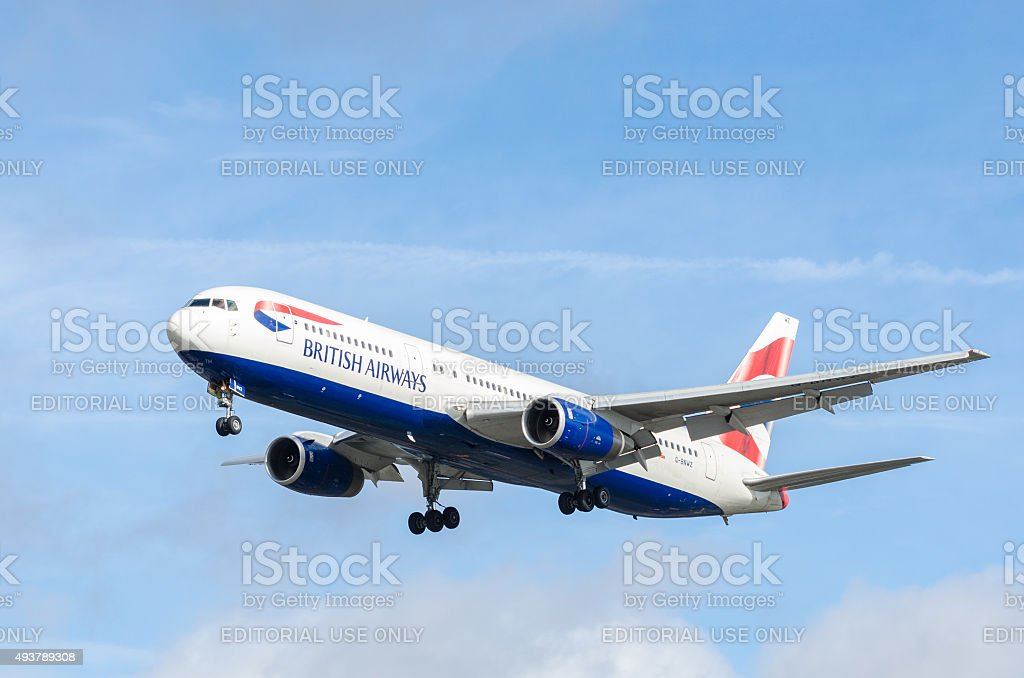 British Airways Boeing 767-300 stock photo