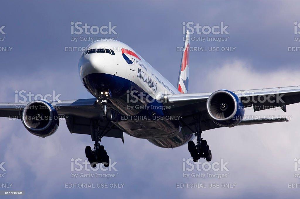 British Airways Boeing 777 stock photo