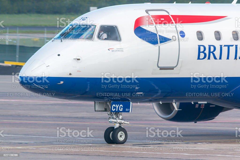 British Airways - Boeing 777 stock photo