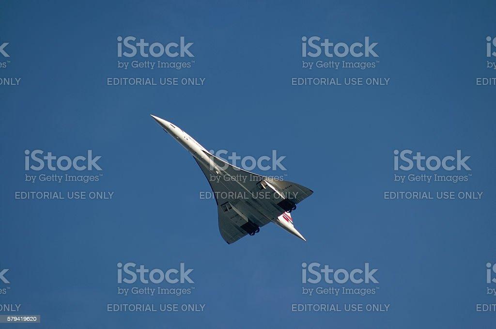 British Airways Concorde supersonic airplane stock photo