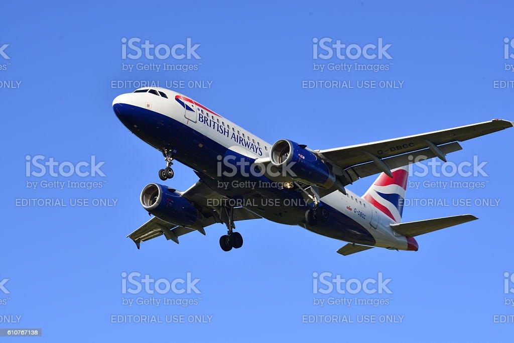 British Airways, Embraer 170, U.K. stock photo