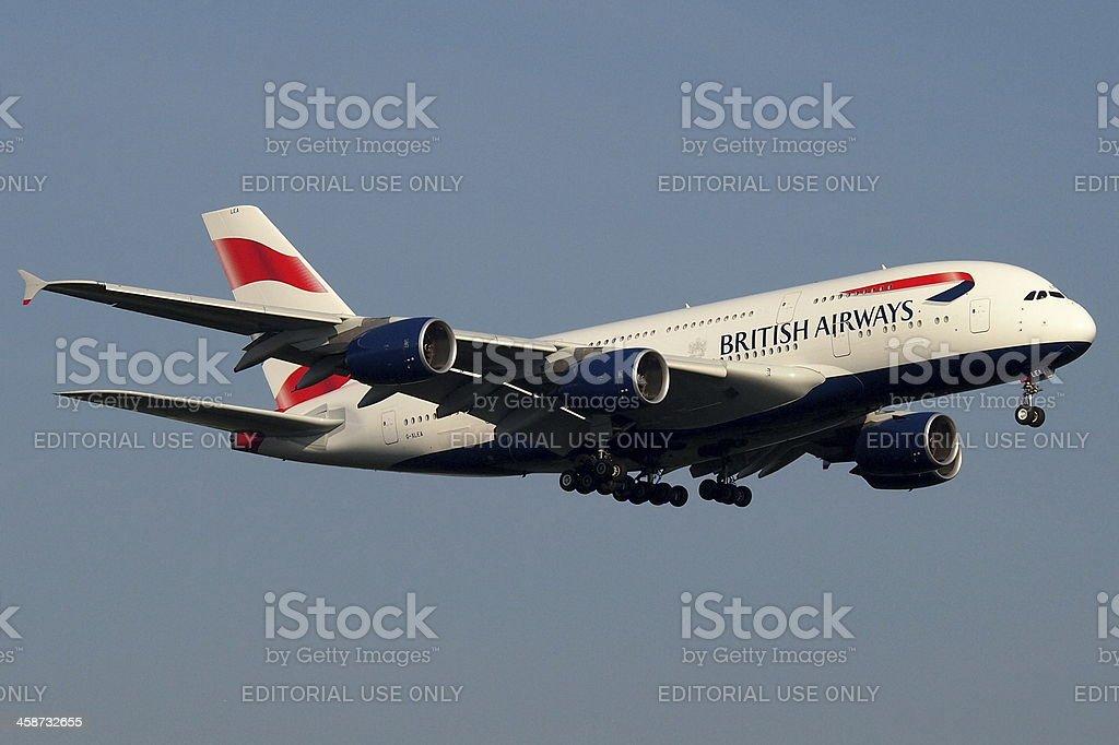 British Airways first Super Jumbo stock photo