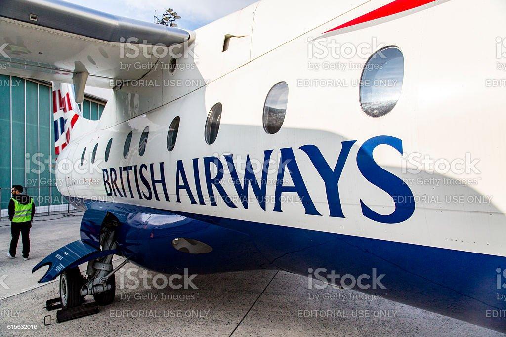 British Airways Plane stock photo