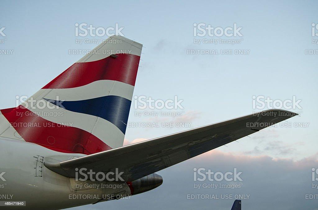 British Airways tailfin stock photo