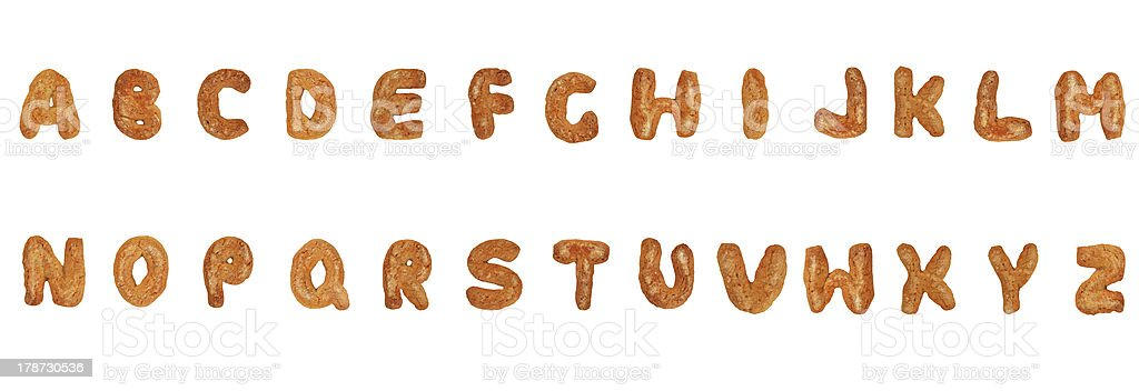 British alphabet letters stock photo