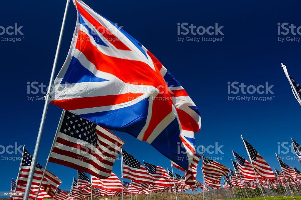 British American Relations stock photo