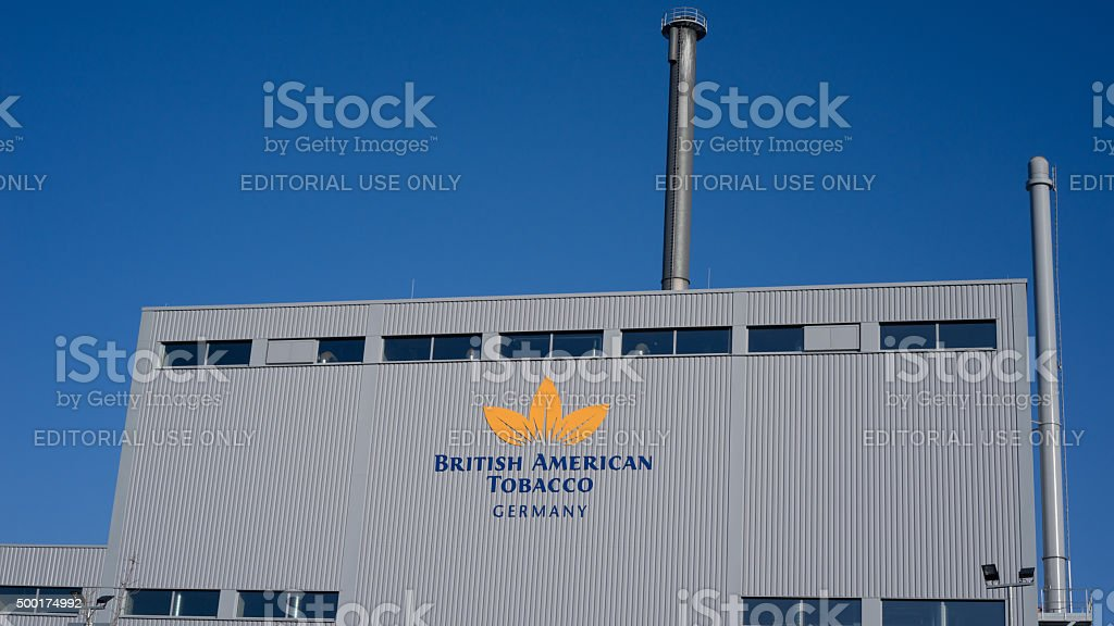 British American Tobacco in Bayreuth stock photo