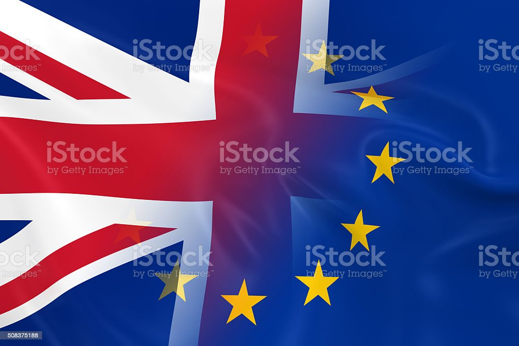 British and European Relations Concept Image stock photo