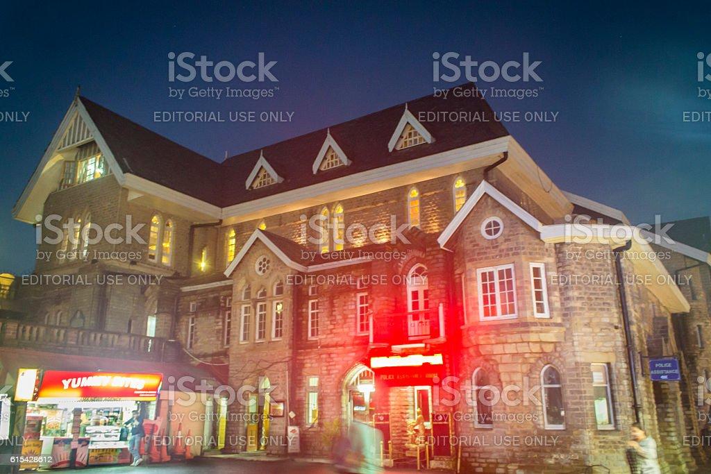 British architecture on the ridge Shimla stock photo