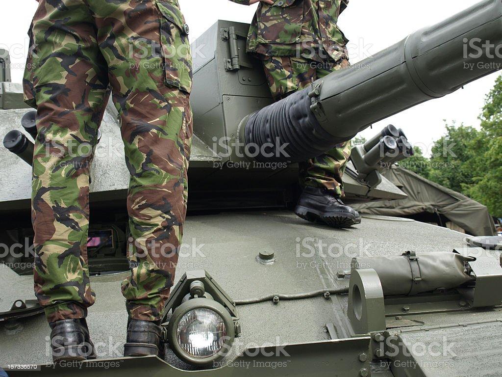 British Army Challenger Tank stock photo