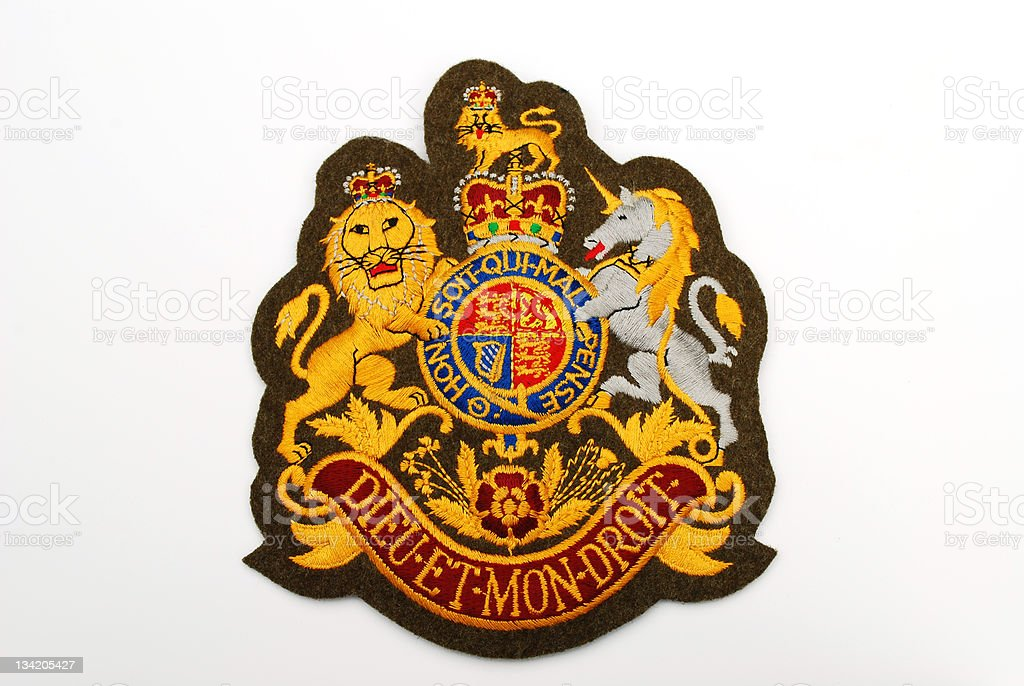 British Army embroidered badge stock photo