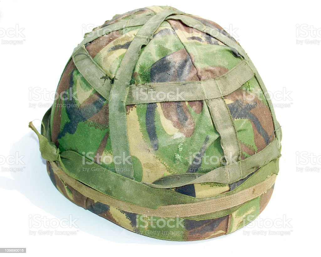 British Army Helmet royalty-free stock photo