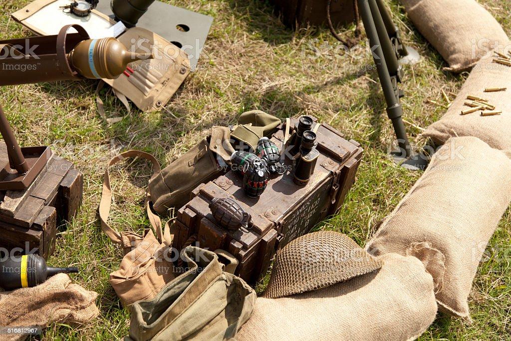 British Army Weapons World War 2 stock photo