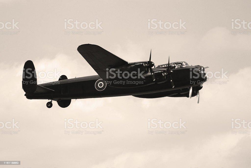 British Avro Lancaster World War II bomber airplane royalty-free stock photo