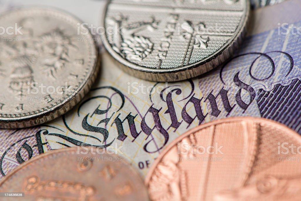 British bank notes royalty-free stock photo