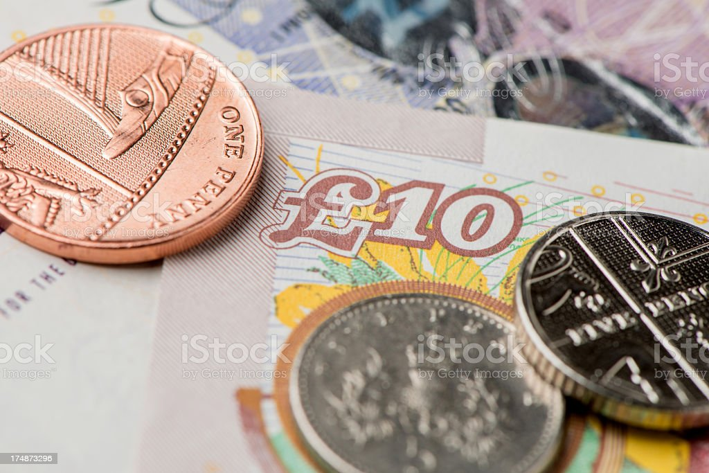 British bank notes royalty-free stock photo