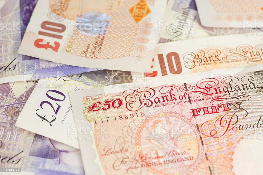 British Banknotes royalty-free stock photo