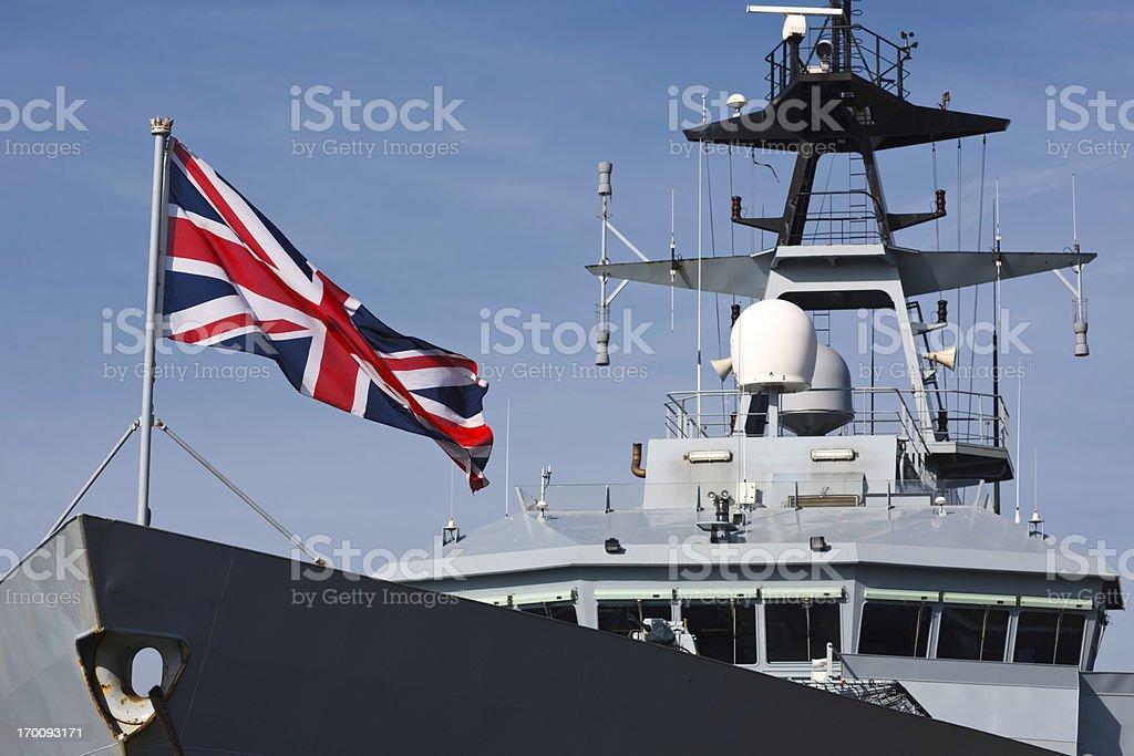 British Battleschip royalty-free stock photo