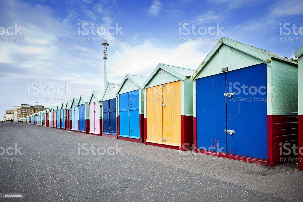 British Beach Huts stock photo