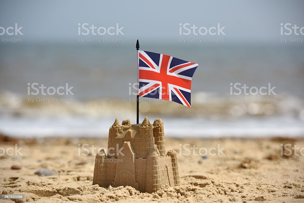 British Beach stock photo