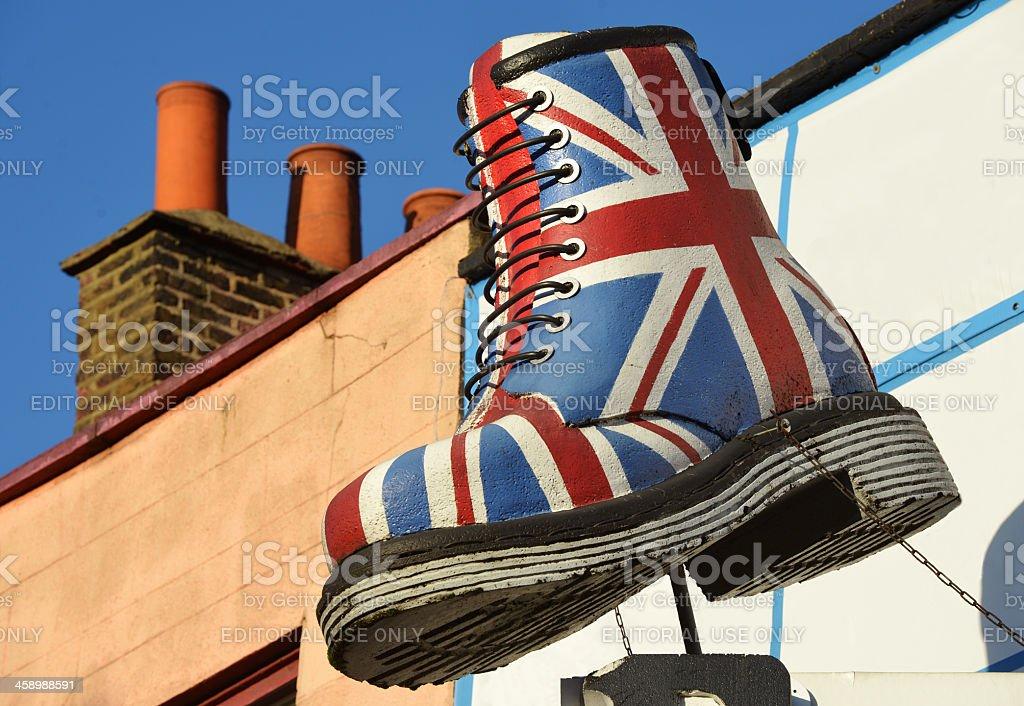 British Boot stock photo