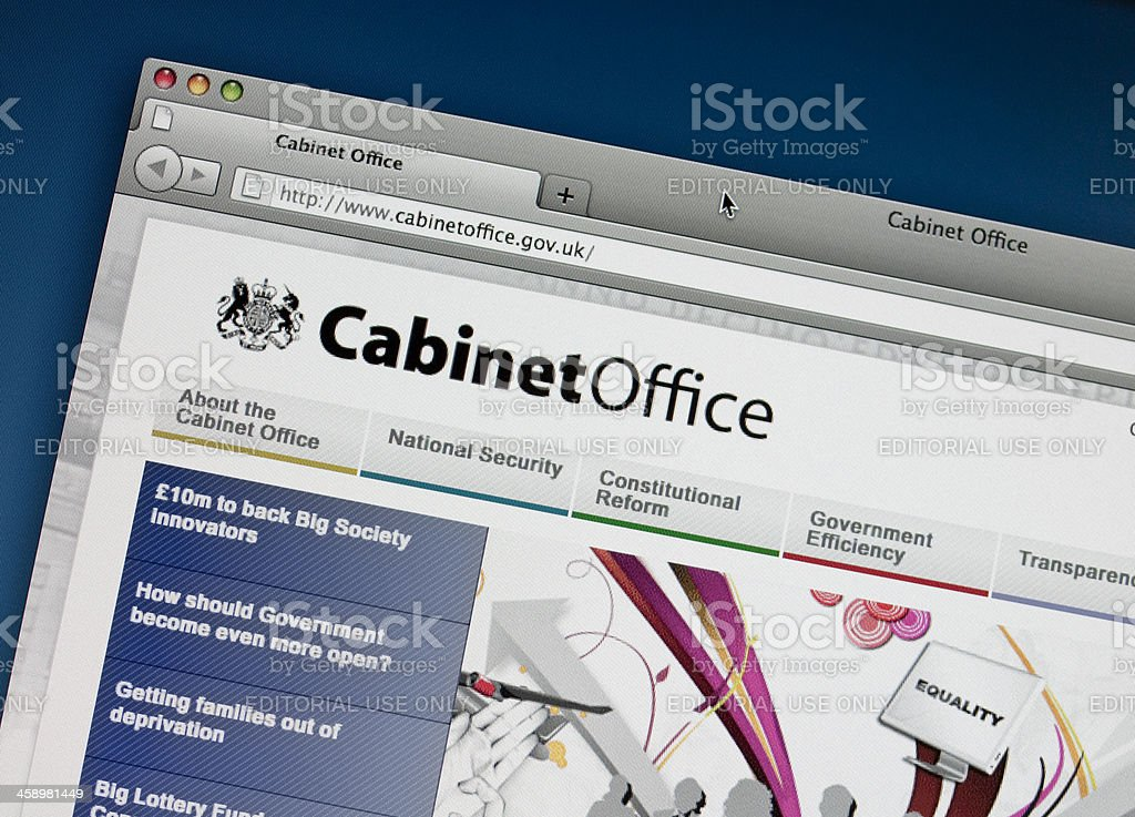 British Cabinet Office website royalty-free stock photo