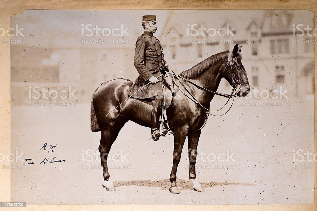 British Cavalry Officer 19th Century royalty-free stock photo