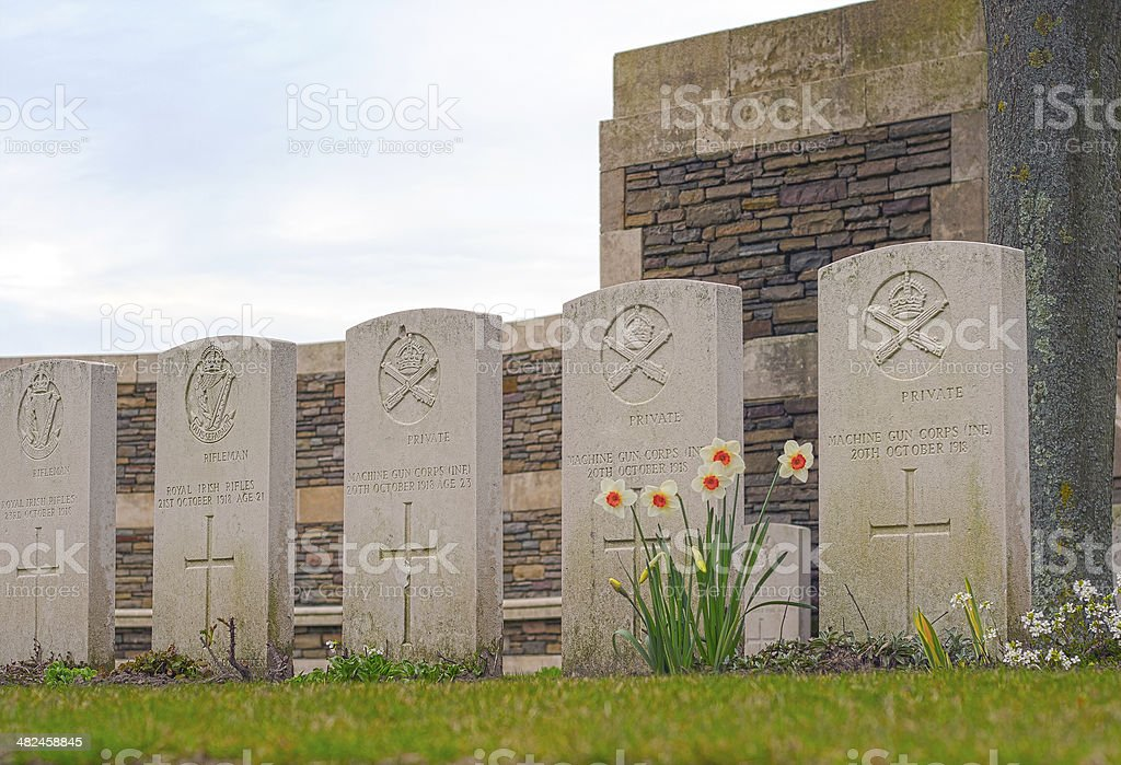 British Cemetery great war in flanders fields Belgium stock photo