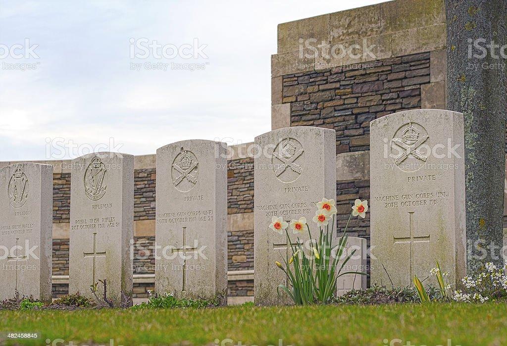 British Cemetery great war in flanders fields Belgium stock photo