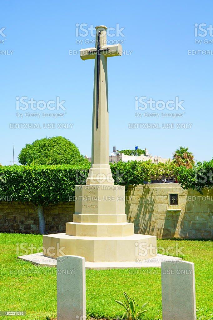 British Cemetery, Haifa stock photo