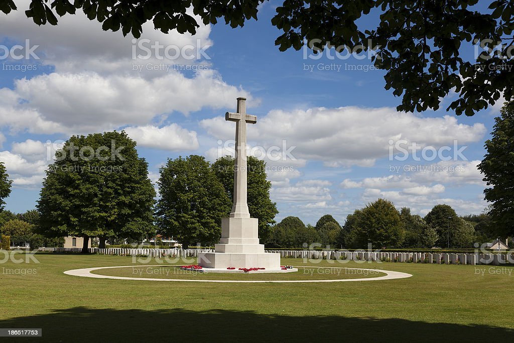 British Cemetery of the Second World War, Bayeux stock photo
