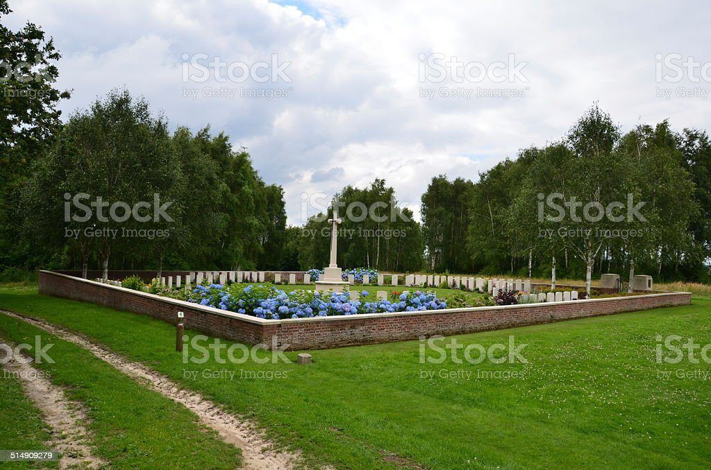 British Cemetery, Ypres, Flanders stock photo