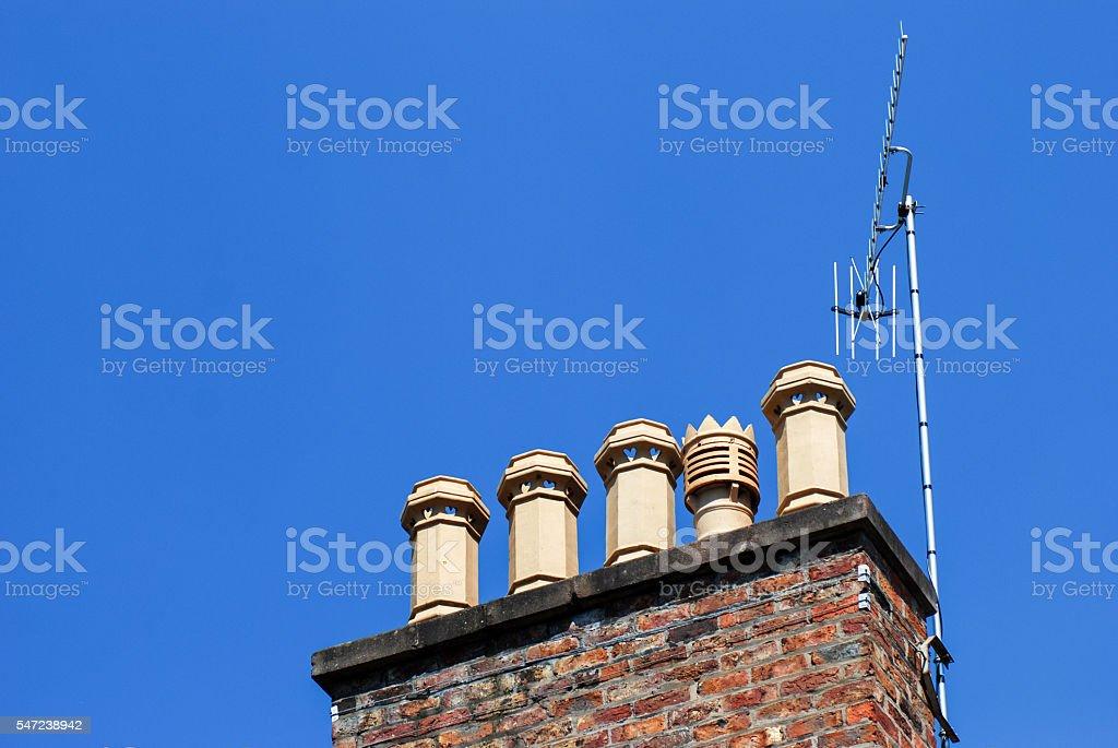British chimney stock photo