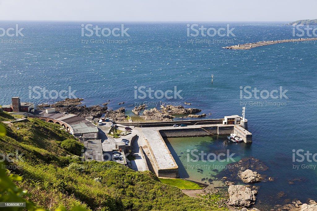 British coastline Devon Bovisand harbour sea coast path stock photo